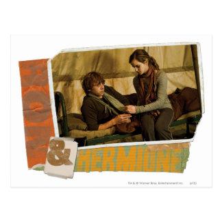 Ron en Hermione 1 Briefkaart