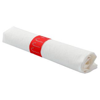 Ronds De Serviette Bande de serviette de motif de sucre de canne