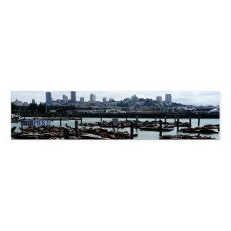 Ronds De Serviette Horizon de ville d'otaries de San Francisco et de