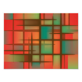 Rood abstract Poster