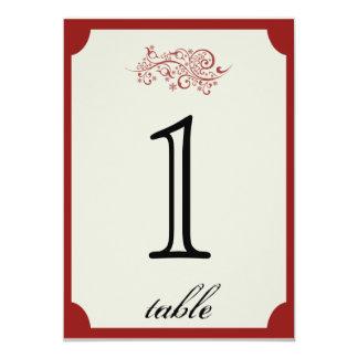 Rood en Aantal van de Lijst van het Jubileum van 12,7x17,8 Uitnodiging Kaart