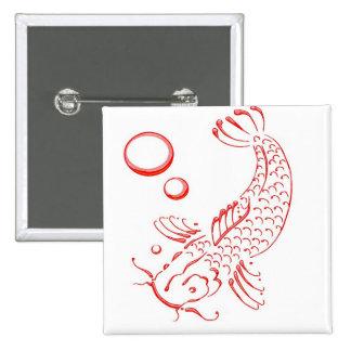 Rood modern ontwerp Koi Speld Button