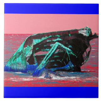 Rose abstrait de naufrage grand carreau carré