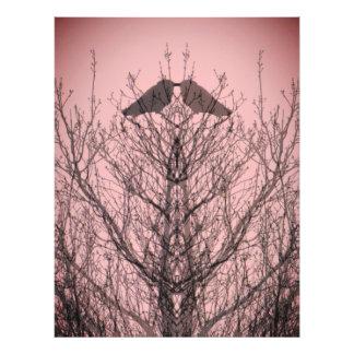 Rose abstrait d'impression d'oiseau de corneille impression photo