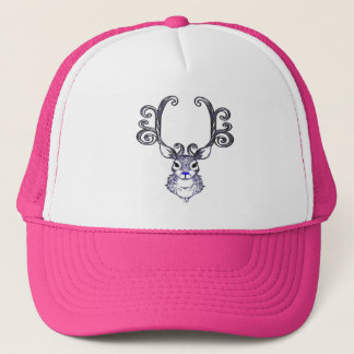 Rose bleu de casquette de cerfs communs de renne
