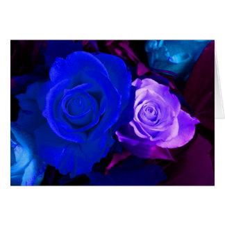 Rose bleu de pourpre