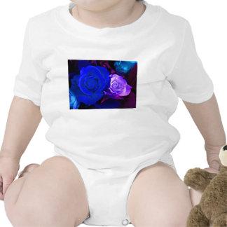 Rose bleu de pourpre bodies pour bébé