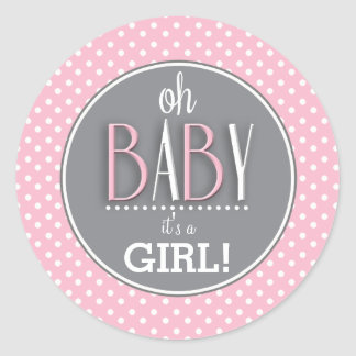 Rose chic moderne son une fille sticker rond