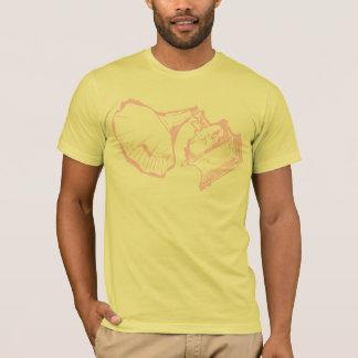Rose classique de cavité de T-shirt de phonographe