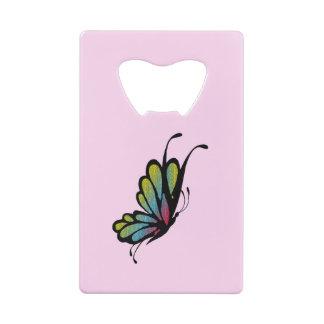 Rose coloré de papillon d'arc-en-ciel
