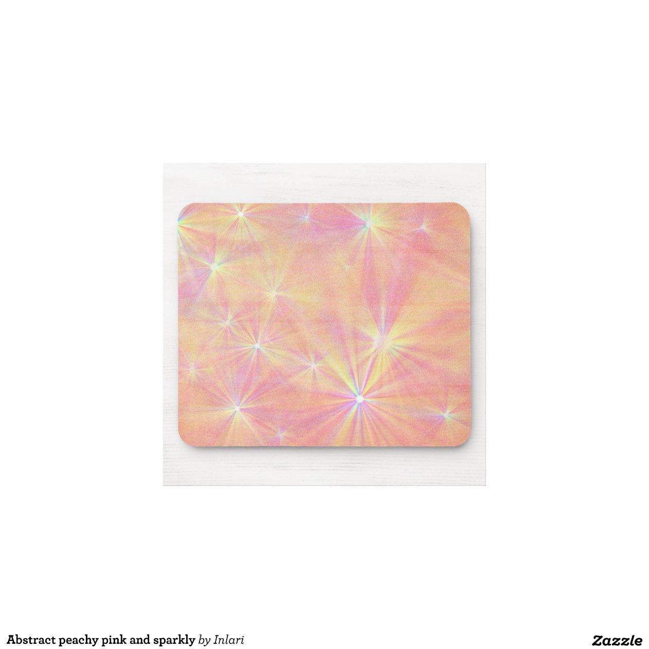 Rose couleur pêche et scintillant abstraits tapis de