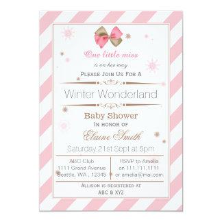 Rose d'arc et invitation de baby shower de mod de