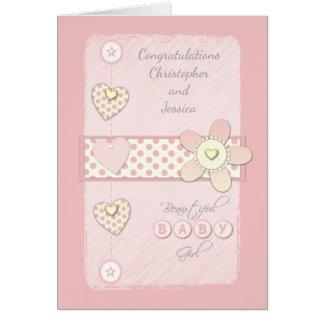 Rose de carte de bébé - félicitations