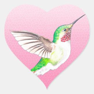 Rose de Hummer Sticker Cœur