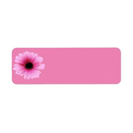 Rose de marguerite étiquette d'adresse retour