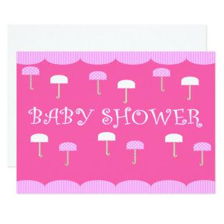 Rose de parapluies de baby shower carton d'invitation  12,7 cm x 17,78 cm