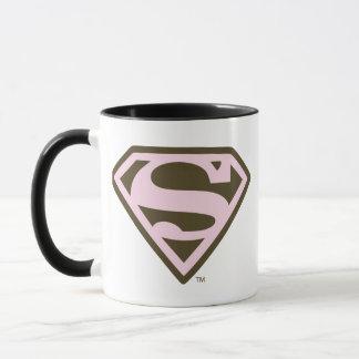 Rose de Supergirl et logo de Brown Mug