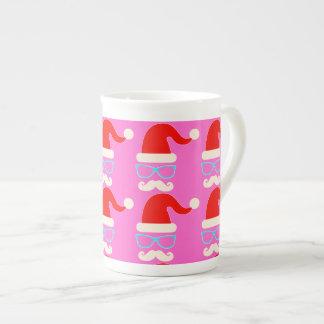 rose de tasse de porcelaine de père Noël de Noël