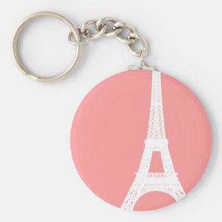Rose de Tour Eiffel Porte-clé Rond