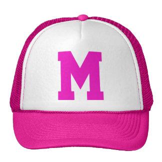 Rose décoré d'un monogramme de superstar casquettes