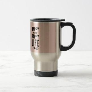 Rose drôle de citation de mariage d'épouse mug de voyage