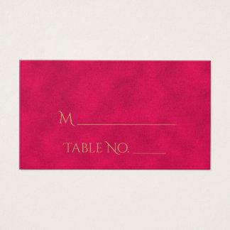 Rose et cartes indiennes d'endroit de mariage de