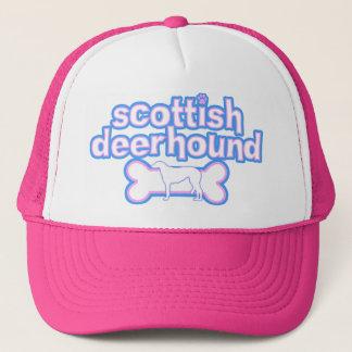 Rose et casquette écossais bleu de limier