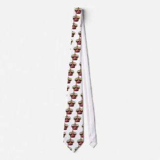 Rose et couronne d'or cravate