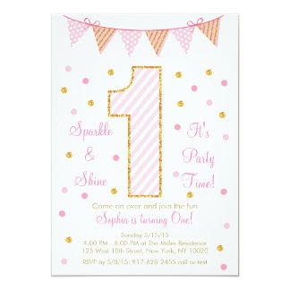 Rose et invitations d'anniversaire de