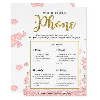 Rose et scintillement d'or ce qui est sur votre carton d'invitation  12,7 cm x 17,78 cm