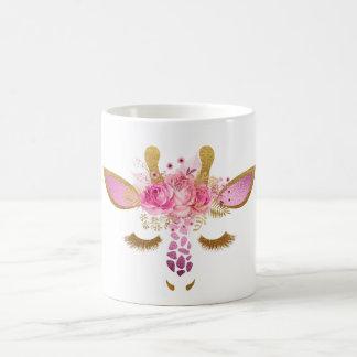 Rose et tasse de girafe d'or