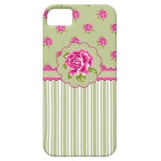 Rose Girly et Gree floraux iPhone 5 Case