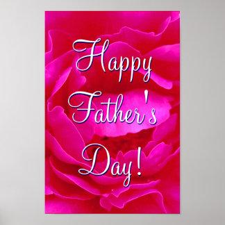Rose heureux de rose de fête des pères I Poster