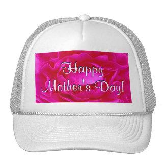 Rose heureux de rose du jour de mère casquette trucker