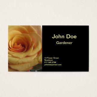 Rose jaune cartes de visite