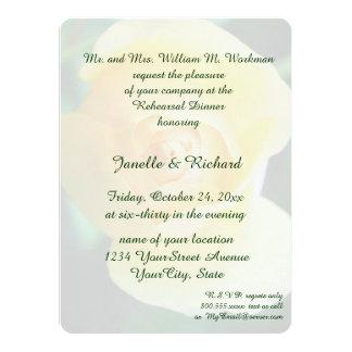 Rose jaune carton d'invitation  13,97 cm x 19,05 cm