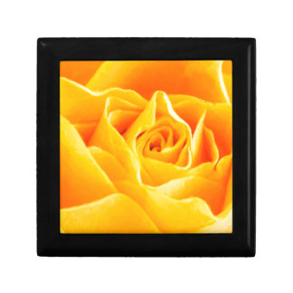 Rose jaune peint boîte à souvenirs