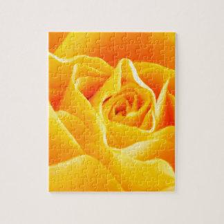 Rose jaune peint puzzle