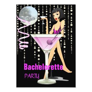 Rose Martini de partie de Bachelorette Carton D'invitation 12,7 Cm X 17,78 Cm