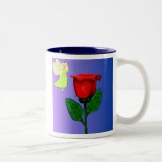 Rose pompon tasse 2 couleurs