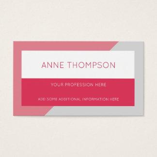 rose professionnel géométrique et moderne cartes de visite
