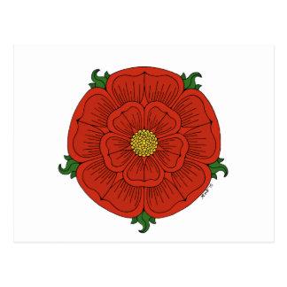 Rose rouge de Lancaster Carte Postale