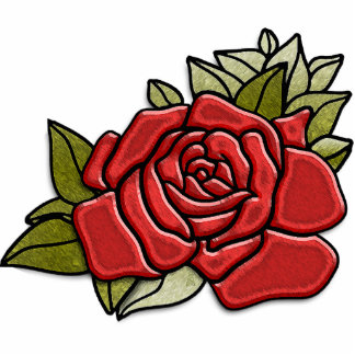 Rose rouge debout (sculpture en photo) photo sculpture