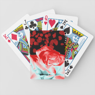 Rose rouge vibrant jeu de poker