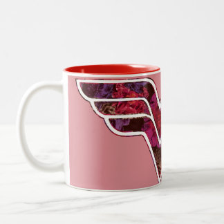 Rose rouge WW Tasse 2 Couleurs
