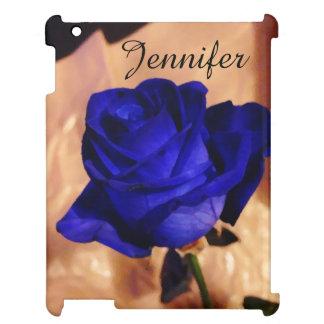 Rose simple de bleu étuis iPad
