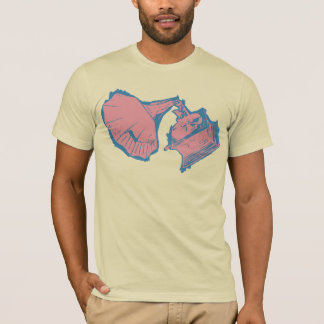 Rose solide de T-shirt classique de phonographe