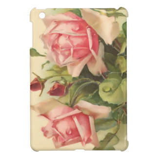 Rose vintage de rose étui iPad mini