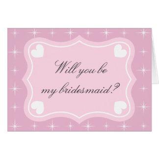 Rose vous serez ma carte de voeux de demoiselle d'