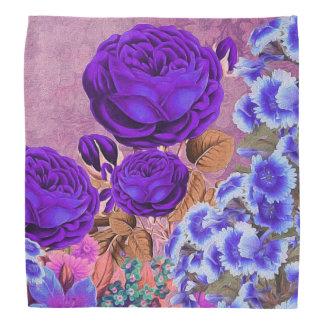 Roses de bleu de lavande foulard